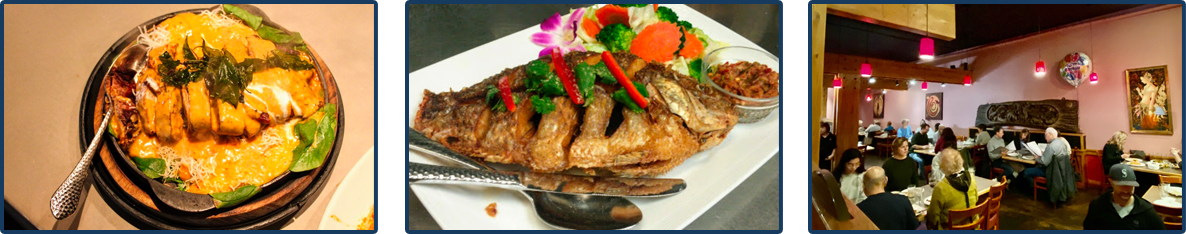 Delicious Dish, Fish Dish, Customers in Restaurant